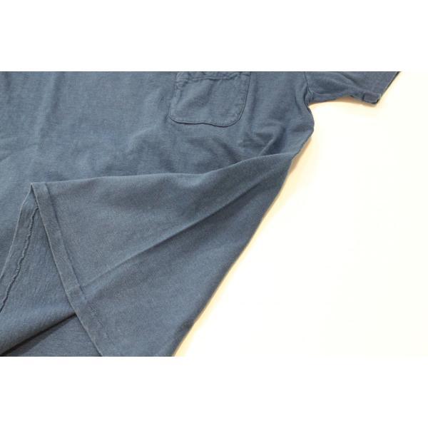 インディゴ染め 吊り編み天竺 VネックTシャツ バーンズ アウトフィッターズ(Barns outfitters) |plus-c|03