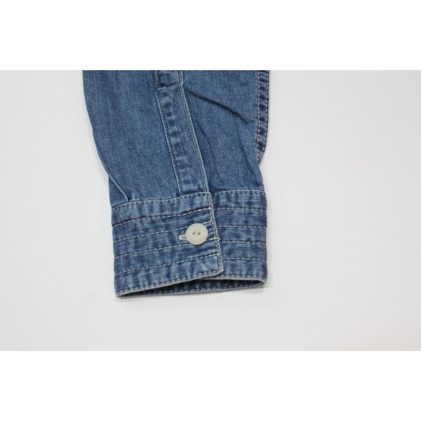 バーンズ barns outfitters ノーカラー デニムシャツ|plus-c|15