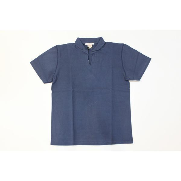バーンズ アウトフィッターズ(Barns outfitters)スキッパーポロシャツ skipper polo shirt|plus-c|04