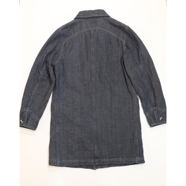 バーンズ barns outfitters デニムショールカラーコート THE SEAMAN'S COAT|plus-c|02