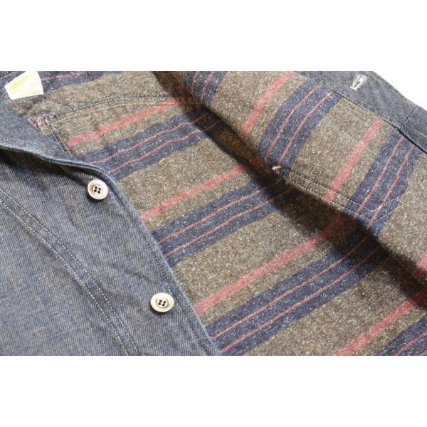 バーンズ barns outfitters デニムショールカラーコート THE SEAMAN'S COAT|plus-c|05
