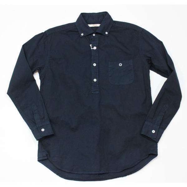 バーンズ barns outfitters   レディース プルオーバーボタンダウンシャツ|plus-c
