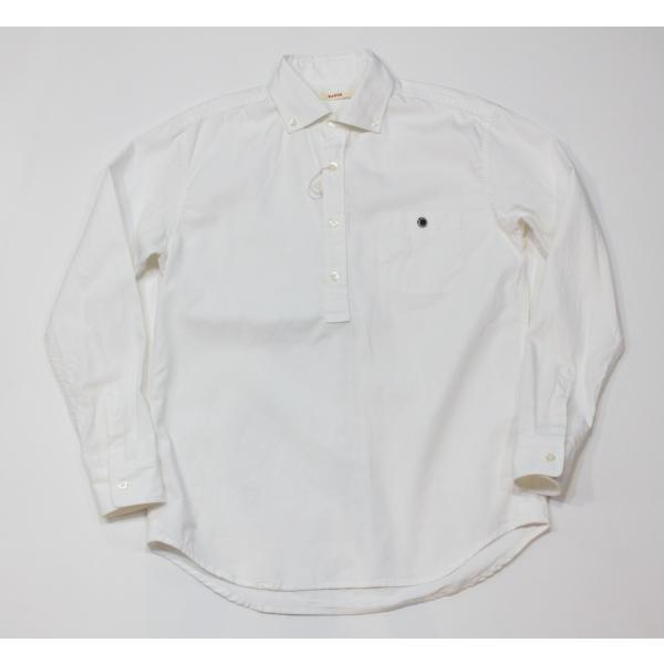 バーンズ barns outfitters   レディース プルオーバーボタンダウンシャツ|plus-c|02
