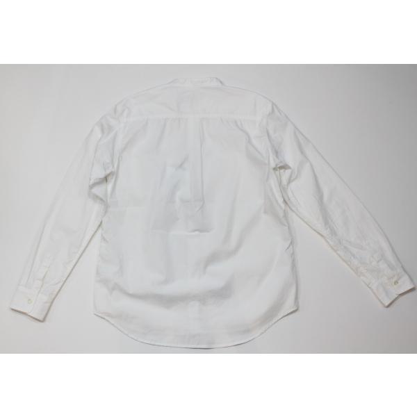 バーンズ barns outfitters   バンドカラーシャツ|plus-c|02