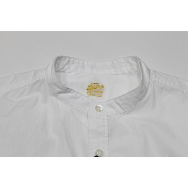 バーンズ barns outfitters   バンドカラーシャツ|plus-c|03