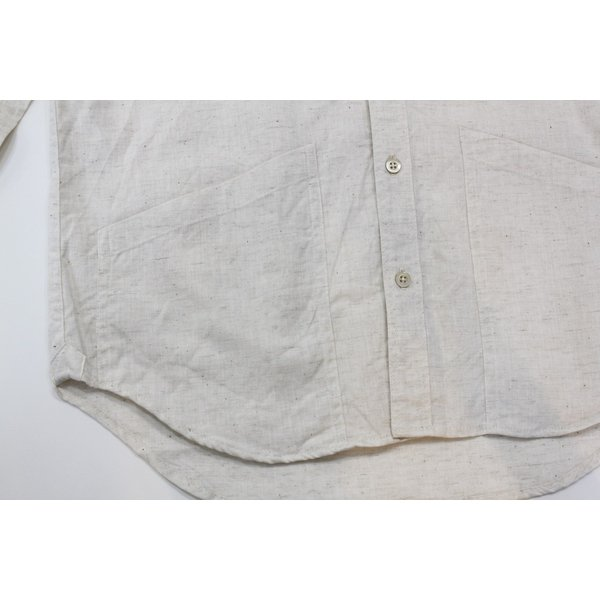 バーンズ barns outfitters ダンガリー バンドカラーシャツ|plus-c|11