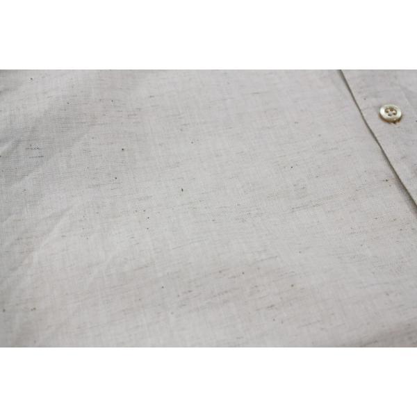 バーンズ barns outfitters ダンガリー バンドカラーシャツ|plus-c|12