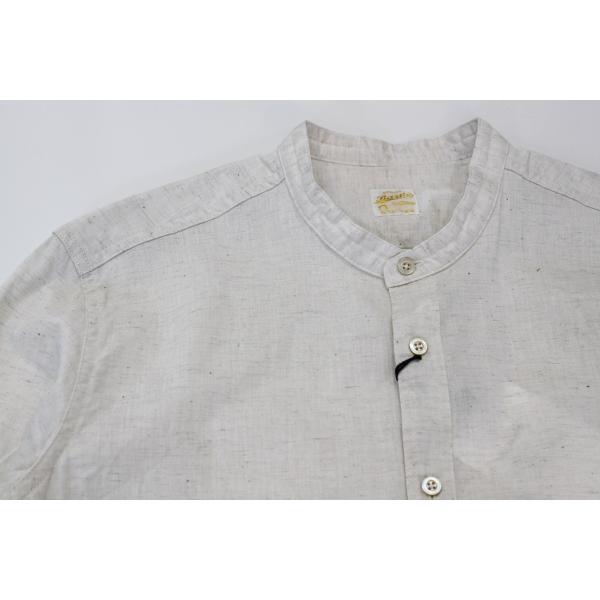 バーンズ barns outfitters ダンガリー バンドカラーシャツ|plus-c|10