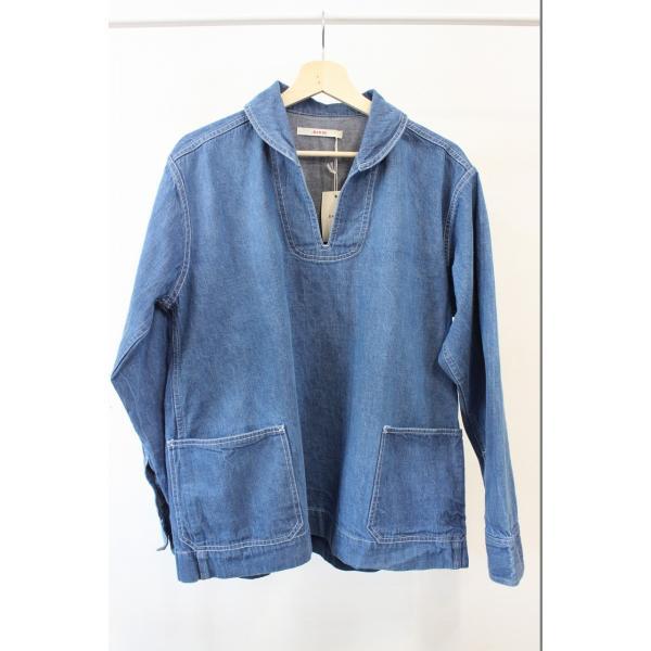 バーンズ barns outfitters   レディース デニムスキッパーVINTAGEシャツ|plus-c|02