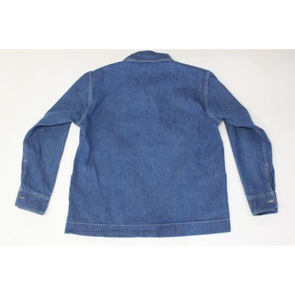 バーンズ barns outfitters   レディース デニムスキッパーVINTAGEシャツ|plus-c|04