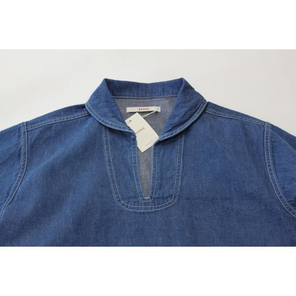 バーンズ barns outfitters   レディース デニムスキッパーVINTAGEシャツ|plus-c|07