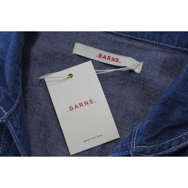 バーンズ barns outfitters   レディース デニムスキッパーVINTAGEシャツ|plus-c|08