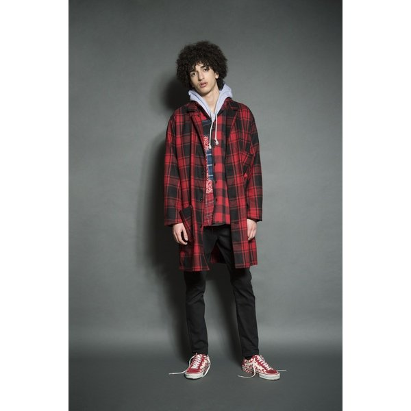 SEVESKIG(セヴシグ) WOOL CHECK LONG JACKET|plus-c|13