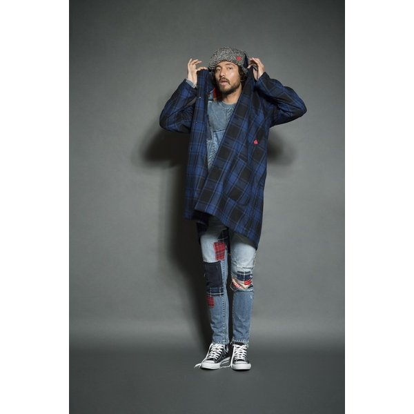 SEVESKIG(セヴシグ) WOOL CHECK LONG JACKET|plus-c|07