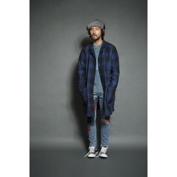 SEVESKIG(セヴシグ) WOOL CHECK LONG JACKET|plus-c|09