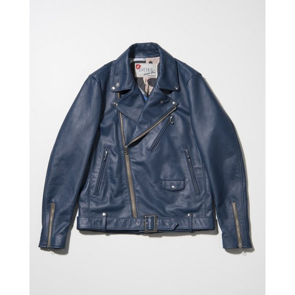SEVESKIG(セヴシグ) COW HIDE W-RIDERS JACKET|plus-c|03