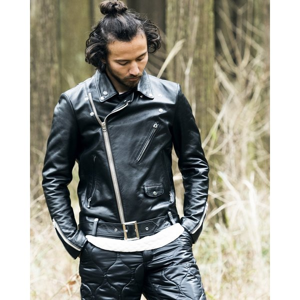 SEVESKIG(セヴシグ) COW HIDE W-RIDERS JACKET|plus-c|06