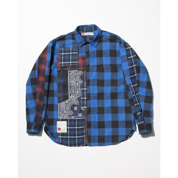 SEVESKIG(セヴシグ) REMAKE CHECK SHIRT|plus-c