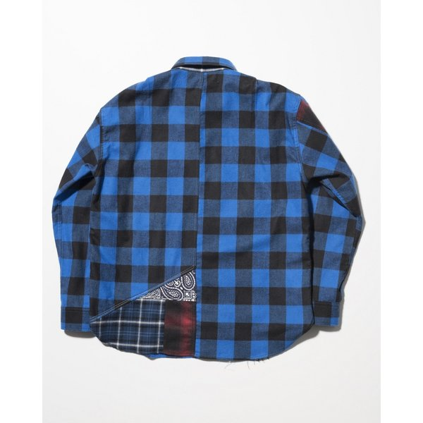 SEVESKIG(セヴシグ) REMAKE CHECK SHIRT|plus-c|02