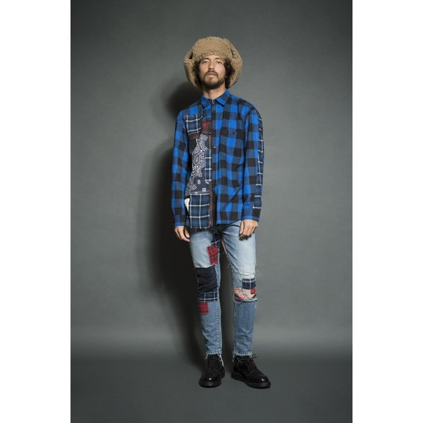 SEVESKIG(セヴシグ) REMAKE CHECK SHIRT|plus-c|10
