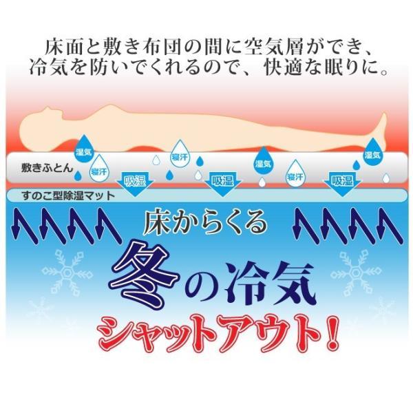 日本製 すのこ ベッド すのこ型除湿マット 防ダニ抗菌防臭 備長炭 帝人 エアジョブ ベッド用 シングル 結露 すのこマット 除湿シート 吸湿シート|plus1-store|16