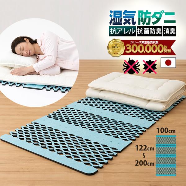 すのこ型除湿マットレス 防ダニ ダニシート 日本製 布団 抗菌防臭 テイジン ベルオアシス エアジョブ シングル 除湿シート 吸湿シート すのこベッド ダニ対策 plus1-store