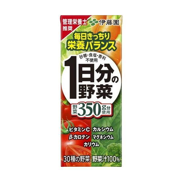 伊藤園 1日分の野菜 紙パック 200ml 1ケース(24本入)|plus1spot