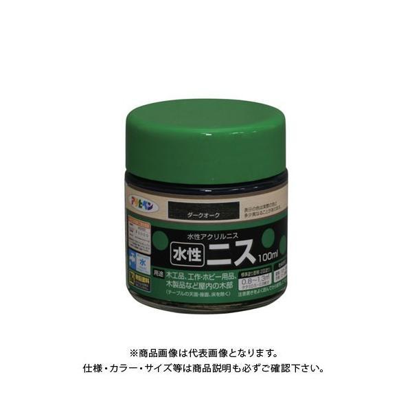 アサヒペン AP 水性ニス 100ML ダークオーク AP901327