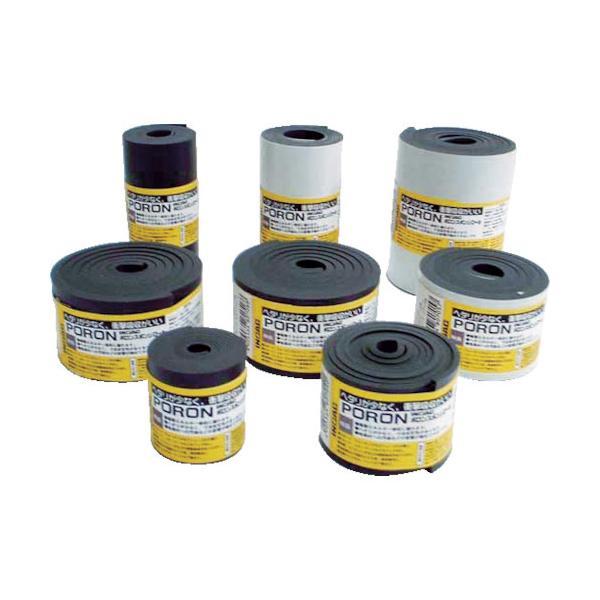 イノアック マイクロセルウレタンロールPORON 黒 3×50mm×1M巻 L24-350-M