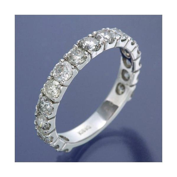 K18WG ダイヤリング 指輪 2ctエタニティリング 19号
