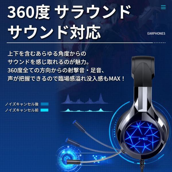 ゲーミングヘッドセット PS4 ヘッドセット ゲーム ヘッドホン マイク付き 高音質 有線 スイッチ SWITCH フォートナイト Apex BO4 FPS LED PC  送料無料|plusentrysoreyhs|18