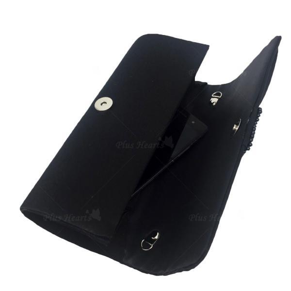 レディース 装飾 バッグ おでかけ イブニングバッグ ショルダー クラッチ ハンドバッグ チェーン サテン ラインストーン