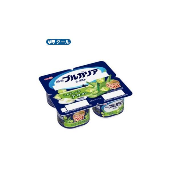 明治ブルガリアヨーグルト しゃきしゃきアロエ【75g×4個×6セット】1箱/クール便 食べる