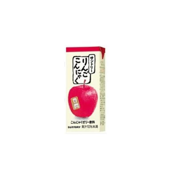 サントリー りんごこんにゃく 250m×24本入/2ケース 紙パック ゼリー飲料 林檎 りんご リンゴ アップル こんにゃくゼリー 送料無料