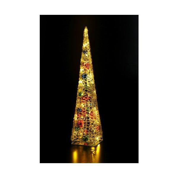 LEDクリスタルボールツリー(ゴールド) WG-5355 友愛玩具 クリスマスイルミネーション