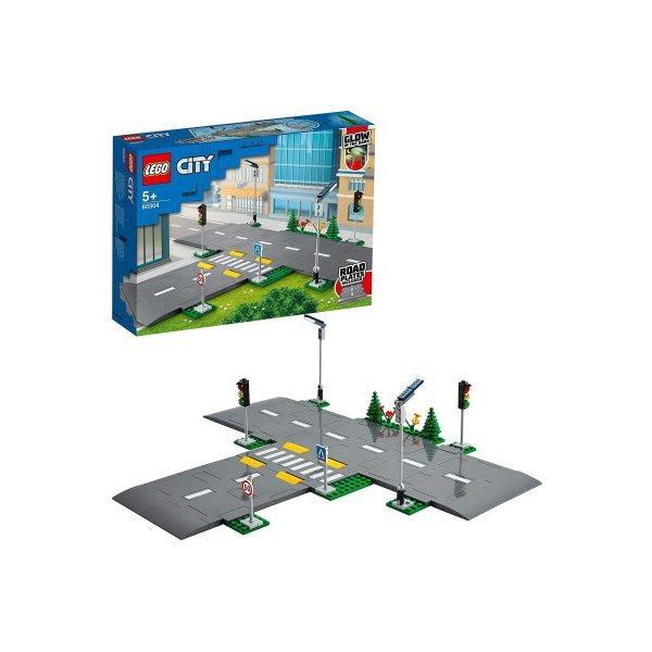 レゴシティつながる ロードプレート交差点60304LEGOブロックおもちゃプレゼントギフト