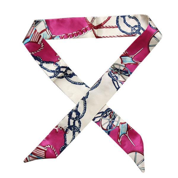 ツイリースカーフ トゥイリースカーフ バッグスカーフ バッグ用スカーフ プチスカーフ ハンドルスカーフ ロングスカーフ レディース 小物 持ち手 鞄|plusnao|12