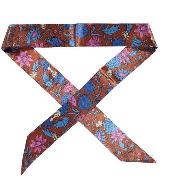 ツイリースカーフ トゥイリースカーフ バッグスカーフ バッグ用スカーフ プチスカーフ ハンドルスカーフ ロングスカーフ レディース 小物 持ち手 鞄|plusnao|17
