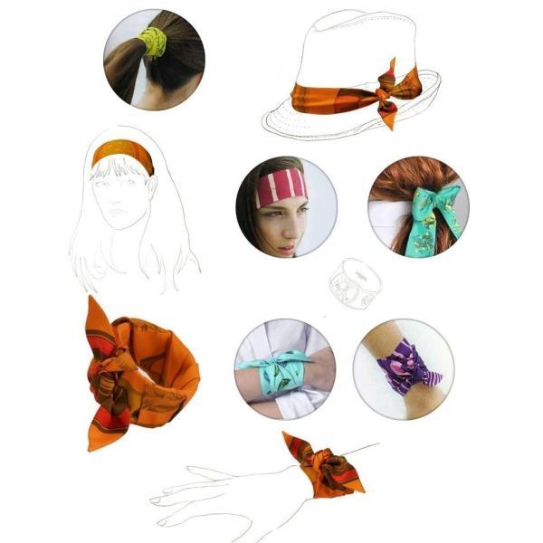 ツイリースカーフ トゥイリースカーフ バッグスカーフ バッグ用スカーフ プチスカーフ ハンドルスカーフ ロングスカーフ レディース 小物 持ち手 鞄|plusnao|04