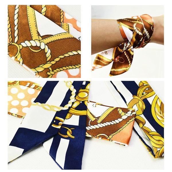 ツイリースカーフ トゥイリースカーフ バッグスカーフ バッグ用スカーフ プチスカーフ ハンドルスカーフ ロングスカーフ レディース 小物 持ち手 鞄|plusnao|10