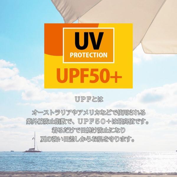 ラッシュガード ラッシュパーカー レディース 水着 UPF50+ 無地 フリル ピンク 白 ホワイト 黒 バーカー uvカット 大きいサイズ 日焼け止|plusnao|04