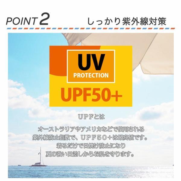 ラッシュガード ラッシュパーカー レディース 水着 UPF50+ 無地 ロング ピンク 白 ホワイト 黒 バーカー uvカット 大きいサイズ 日焼け止|plusnao|04