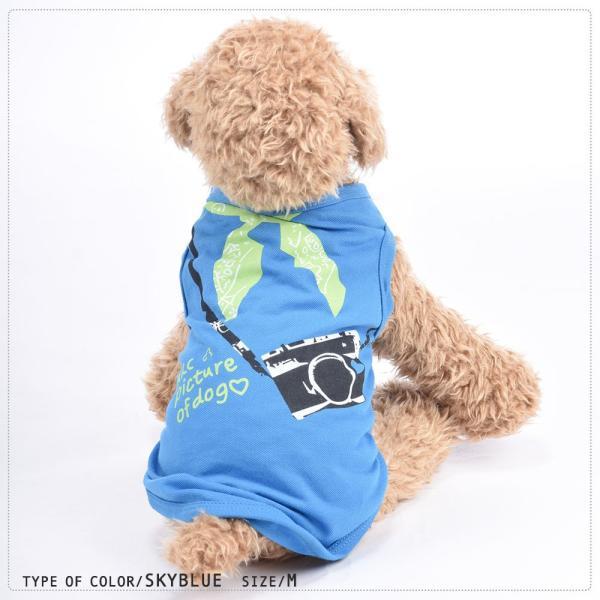 Tシャツ 犬服 ドッグウェア ドッグウエア プリントTシャツ ノースリーブ タンクトップ カメラ バンダナ スカーフ 英字 薄手 ペット服 犬用 ペッ|plusnao|08