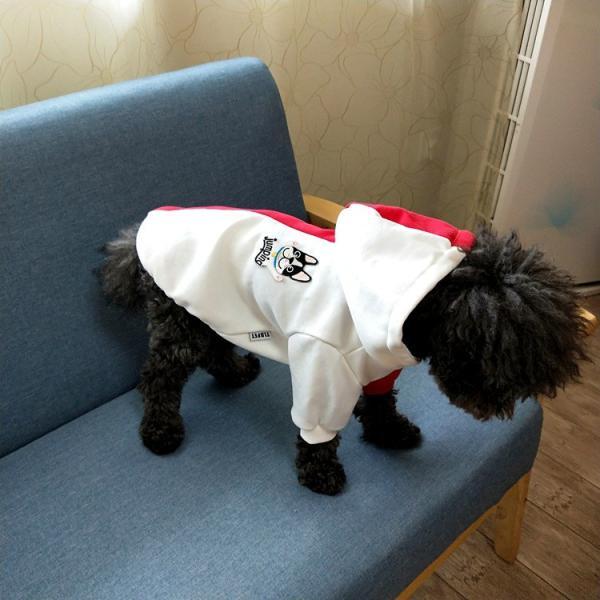 ペットウェア 犬服 パーカー ペア バイカラー 飼い主とお揃い 双子コーデ フード付き ペットウェア ドッグウェア ペット ペット用品 ペット服 長袖 plusnao 05