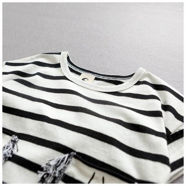 8ed30cfbd78bfe ... セットアップ 半袖Tシャツ ボーダーTシャツ ショートパンツ ショーパン 半ズボン 夏 子供服 ...