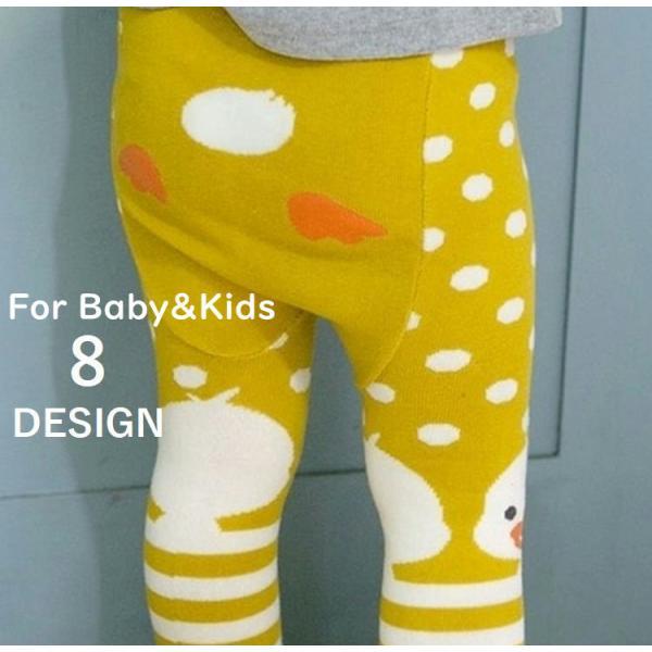 子供用 赤ちゃん用 タイツ ベビー アニマルデザイン カラータイツ スパッツ レギンス あったか 防寒 女の子 男の子 ベビー キッズ|plusnao