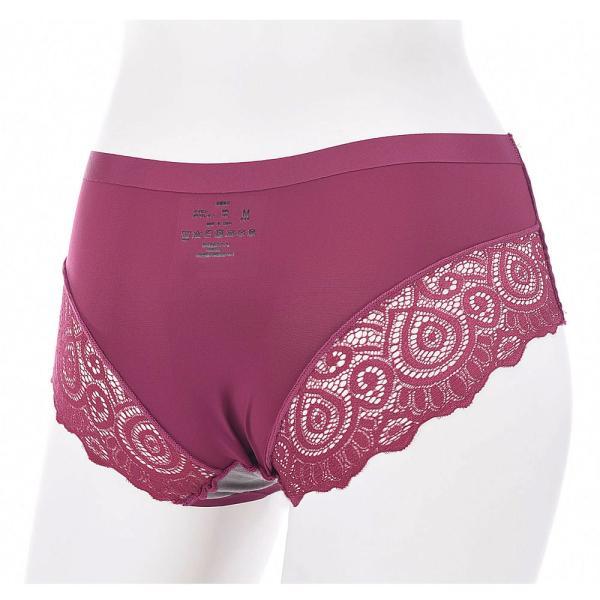ショーツ パンツ シームレス スタンダード ノーマル バックレース レディース 自社生産 品質保証 全国送料無料 日本語洗濯表示 女性用 下着 ランジ|plusnao|06
