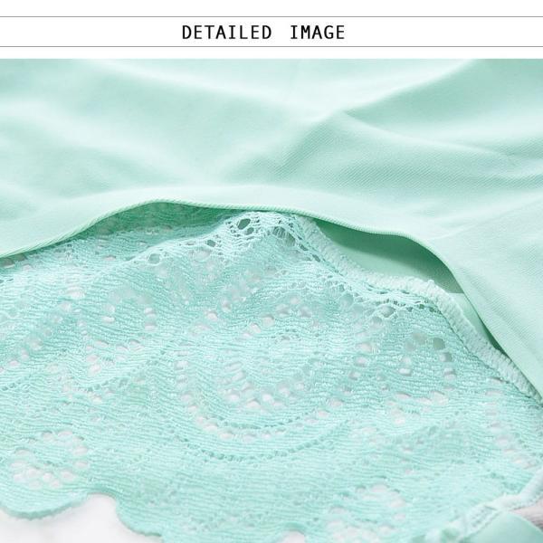 ショーツ パンツ シームレス スタンダード ノーマル バックレース レディース 全国送料無料 自社生産 品質保証 日本語洗濯表示|plusnao|09