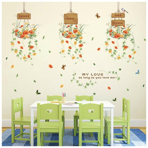 ウォールステッカー ウォールシール 壁シール 壁紙シール 壁面装飾 壁装飾 室内装飾 お花 フラワーデザイン 蝶 ちょうちょ バタフライ ナチュラル|plusnao