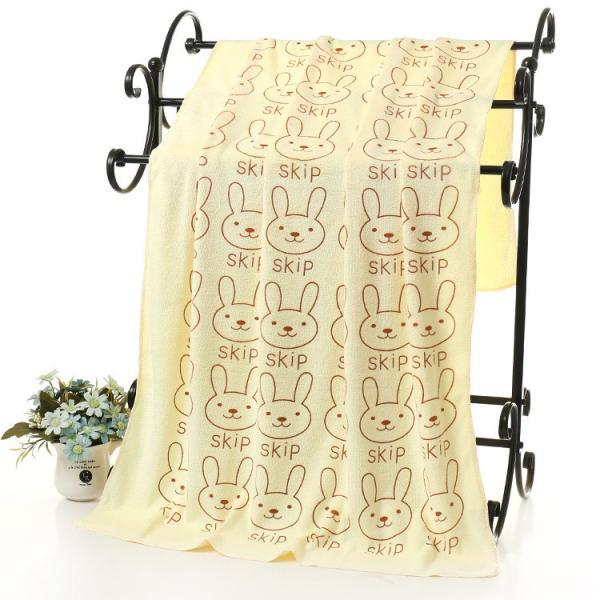 バスタオル マイクロファイバー 吸水タオル 大判 大きめ 吸水力 ウサギ クマ 子供 こども 子ども キッズ 肉球 動物 可愛い かわいい おしゃれ|plusnao|12